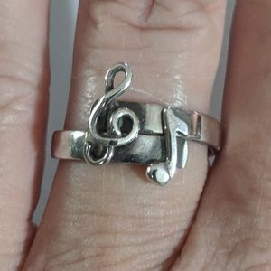 Vtg Sterling Leonore Doskow Music Note Ring #255